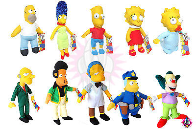 NEW THE SIMPSONS LARGE CARTOON CHARACTERS PLUSH SOFT TEDDYS TOYS TOY BART HOMER