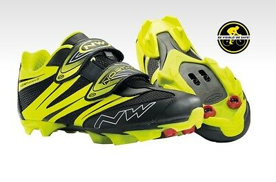 Scarpe NORTHWAVE MTB Mod.SPIKE PRO Yellow Fluo/Black/SHOES NORTHWAVE SPIKE PRO