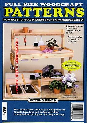 Garden Potting Bench Woodcraft Woodworking Pattern The Windfield Collection