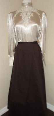 FRONTIER CLASSICS CHOCOLATE VICTORIAN WALKING SKIRT COWGIRL Steampunk Dickens