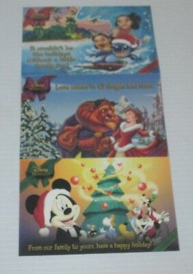 Disney Movie Club Dmc Exclusive Holiday Postcard Set/3 Cards 2013