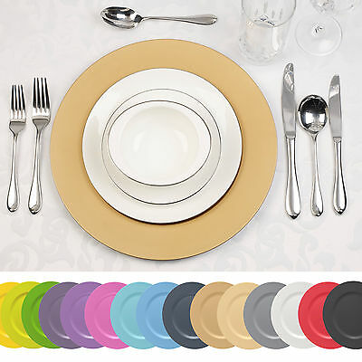 6 x Designer Decorative Charger Plates Xmas Dinner Dining Setting Lacquer Effect