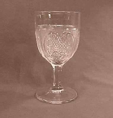 Princess Feather Early American Pattern Glass Goblet