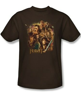 The Hobbit The Desolation of Smaug Cast T-Shirt, Lord of the Rings NEW UNWORN