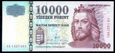 HUNGARY 10000 FORINT 2012    - P 200c   Uncirculated Banknotes