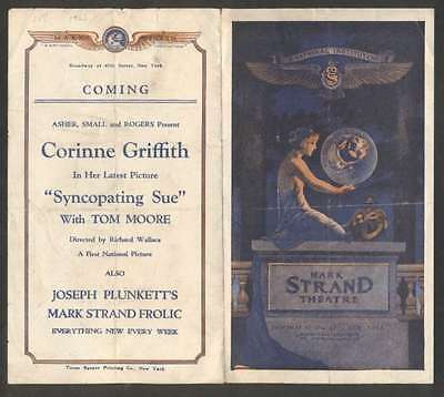 Programme Mark Strand Theatre Syncopating Sue 1926