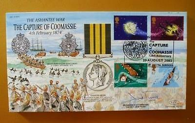 2002 Peter Pan / Capture Of Coomassie Fdc Signed By Brigadier Dr Innes Adc