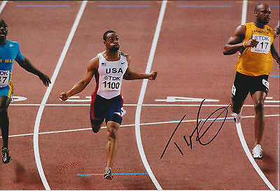 Tyson GAY Autograph 12x8 Signed Photo AFTAL COA SPRINTER USA Athlete RARE