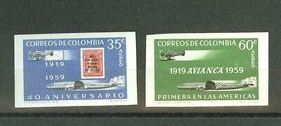 Colombia:SCADTA 40th anniversary IMPERF. SET, only 100 exist! Sc.C347-8 var
