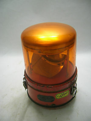 Vintage Ship's Electric WARNING LIGHT Lamp Japanese ORANGE #25
