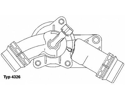 Wahler 4326.97D Thermostat Inkl.dichtung Bmw