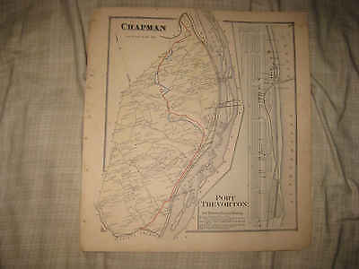 Antique 1868 Chapman Township Port Trevorton Snyder County Pennsylvania Map Nr