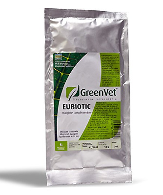 GREENVET EUBIOTIC INTEGRATORE FLORA INTESTINALE ANIMALI IN GENERE gr.500