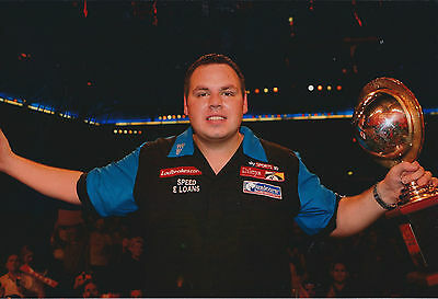 Adrian LEWIS Signed 12x8 Autograph Photo AFTAL COA Darts PDC Matchplay Champion