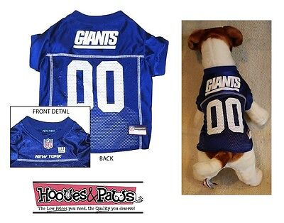 buy online bb6d7 b5519 NEW YORK GIANTS Dog Jersey NFL Officially Licensed Football Pet Product Gear