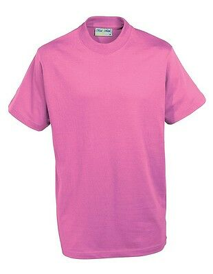 **PLAIN-SHORT SLEEVED-T SHIRTS-IDEAL-SPORTS-SCHOOL-HOME-CLUBS-14 colours**
