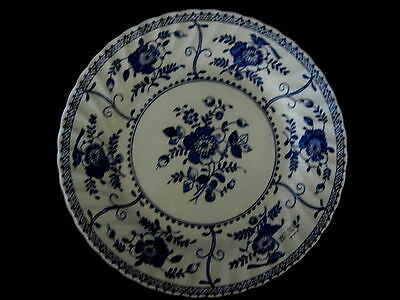 Beautiful Vintage Large JOHNSON BROTHERS Cobalt Blue Indies Pattern Daisy Plate