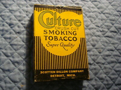Culture Cardboard Smoking Tobacco Box,Scotten Dillon Co., Detroit Mich.