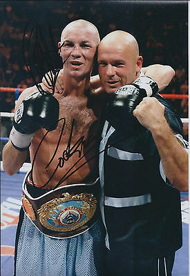 Nicky COOK Cookie Signed 12x8 Autograph Photo AFTAL COA Boxing Champion