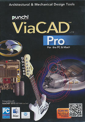 Punch ViaCAD PRO v7.0 7 - Professional CAD Software PC & Mac NEW *Save $ on V 10