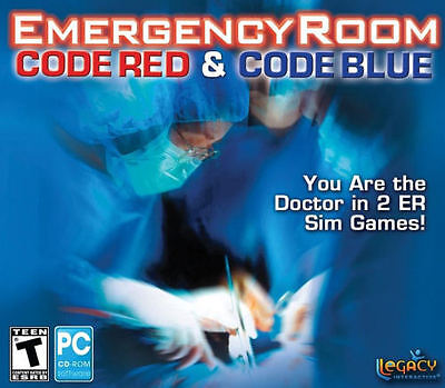 Emergency Room CODE RED + CODE BLUE - 2x ER Medical Doctor Sim PC Games - NEW!