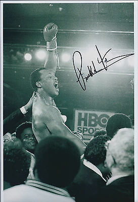 Pinklon THOMAS Signed 12x8 Autograph Photo AFTAL COA World Champion BOXER