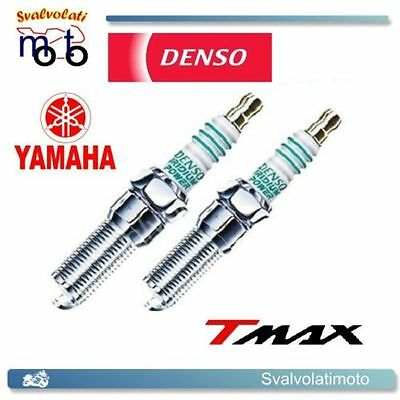 Kit 2 Candele Iridium Power Denso Per Yamaha Tmax T 530 2013 In Poi