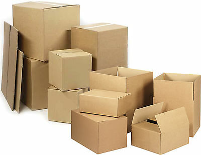 Strong Cardboard Boxes Single Double Wall Corrugated Packaging Mailing Removal