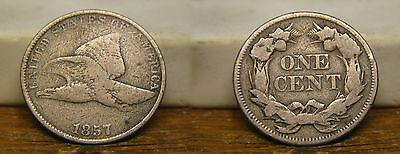1857 Flying Eagle Cent Us Coin
