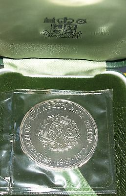 Royal Mint 1972  Silver Proof Crown Boxed 25th Wedding Anniversary Elizabeth 2