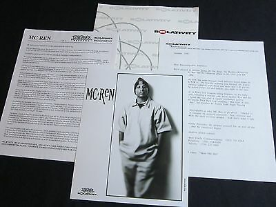 Mc Ren 'Shock Of The Hour' 1993 Press Kit--Photo