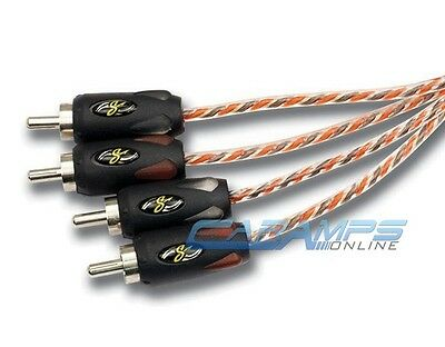 New Stinger Si4412 12 Foot 4 Channel Twisted Pair Rca Interconnect Cables 12Ft