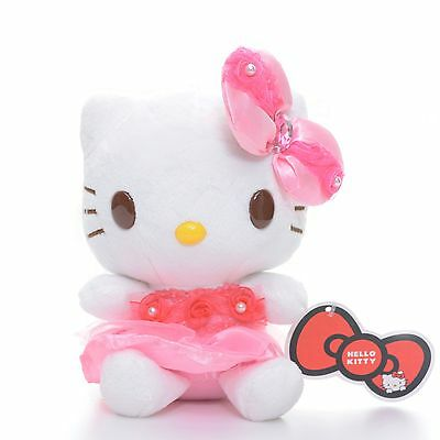Cute Baby Kitty Pink Lace Dress Hello Kitty Collection Plush Doll Toy 8'' New