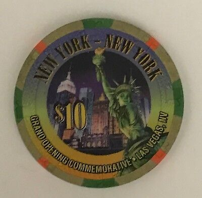New York $10 Casino Chip Las Vegas Grand Opening