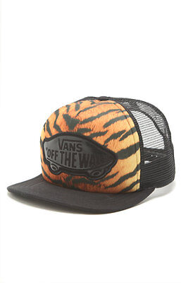 6612dbe88 VANS BEACH GIRL Tiger Print Womens Classic Patch Snapback Trucker Hat NWT