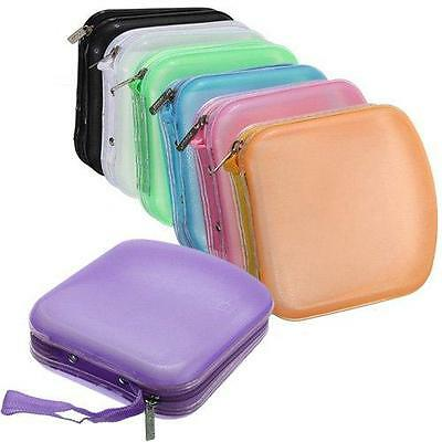40 Pocket CD And DVD Storage Holder Protector Wallet Carry Case