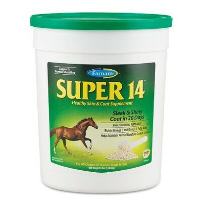 Horse Pony Dogs Cats SUPER 14 Promotes Healthy Skin & Coat Supplement Omega 3 6