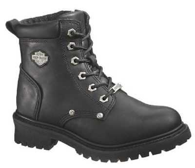 Harley-Davidson Women's Shawnee Lace Up Black 5-Inch Motorcycle Boots D84399