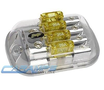 Stinger Spd5623 0G To 4G 4 Position Maxi Fuse Inline Power Distribution Block