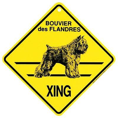 Bouvier des Flandres Dog Crossing Xing Sign New made in USA