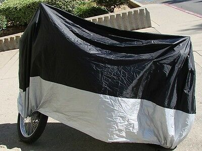 XL Black Waterproof Motorcycle Storage Cover For Harley Dyna Softail Sportster