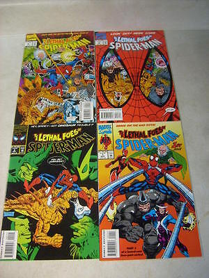LETHAL FOES of SPIDER-MAN #1,2,3,4 full set, RHINO, VULTURE, DR OCTOPUS, NM 1993