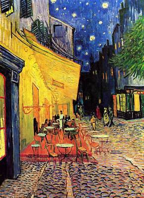 VAN GOGH - Cafe Terrace at Night - QUALITY CANVAS Print - 45cm Size