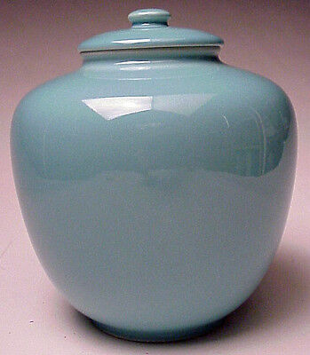 Rookwood Art Pottery 7 ¼ inch tall Potpourri Jar 1952 LII Stock #S2180 Turquoise
