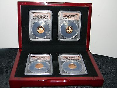 2009-S Lincoln Cent 4-Coin Proof ANACS PR70 DCAM-First Strike Cents -KY,IN,IL,DC