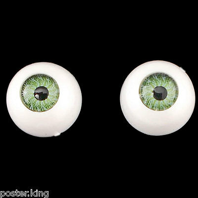 Green One Pair Doll Eyes Ball Half Round Acrylic Dolls Eye 10mm for BJD Dollfie