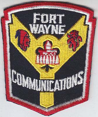 Fort Wayne IN Indiana COMMUNICATIONS patch police/fire/EMS CHEESECLOTH BACK/old