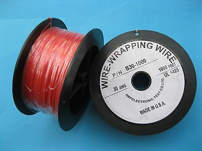 1 roll 1000ft 30AWG Wire-Wrapping Wire Sliver Plated Copper Color = any of 10
