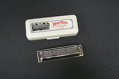 Harmonica Hohner Marine Band 1896, 10 trous en Do / C  Sommier traditionnel bois