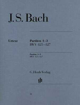 J.S. Bach: Partitas Nos.1-3 BWV 825-827 (Urtext Edition) Piano Sheet Music Instr